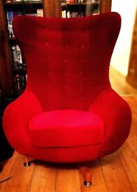 Original 1960s vintage swivel egg chair
