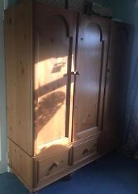 Solid wood triple wardrobe
