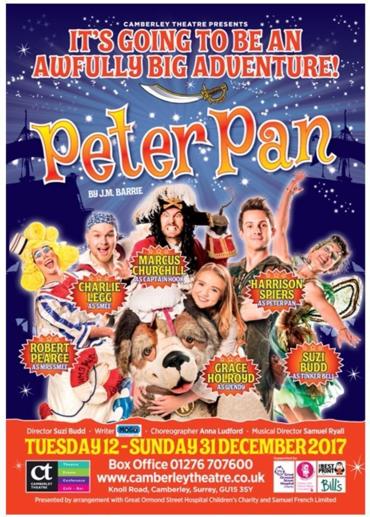 4 Adults and 1 childs ticket for Peter