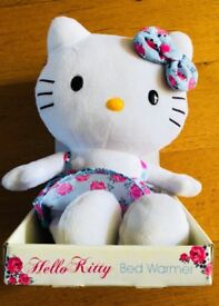 Cute Hello Kitty Microwaveable BedWarmer plush toy helps snuggle off to sleep - New and Boxed