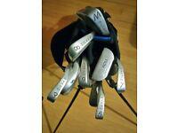 Set of golf clubs bag with balls no driver