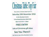 Shoreham Centre Christmas Table Top Fair