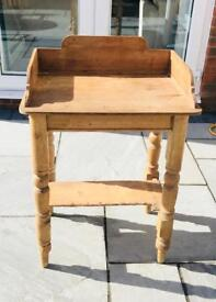 Antique pine occasional table. Ideal telephone table!