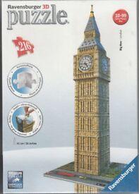 Big Ben 3D Jigsaw Puzzle, made by Ravensburger. ( Brand New ).
