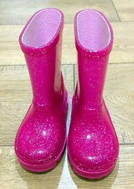 Baby girls party shoes & wellies