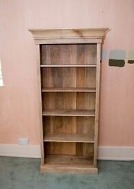 Beautiful custom made 100% mango wood book shelves from Scumble Goosie