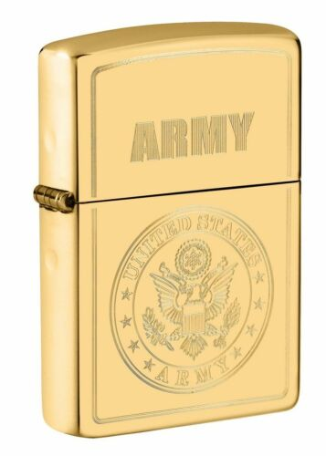 Zippo Windproof Lighter With Engraved U.S. Army Seal, 49314, New In Box