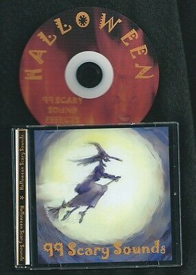 HALLOWEEN 99 Scary Sound Effects spooky audio CD chains laughs screams choking
