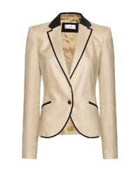 Mango Women's Natural Suit Jacket Cocktail - Size 8