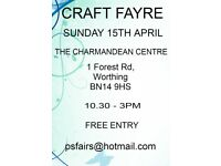 APRIL CRAFT FAYRE CHARMANDEAN WORTHING WEST SUSSEX