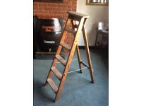 Vintage Wooden Step Ladder - Wedding Display - Shabby Chic Project - Etc