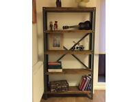 Unique hand made industrial style bookcase, shelf unit- ANY SIZE