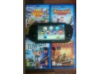 Playstation vita slim 16g 4 games and charger