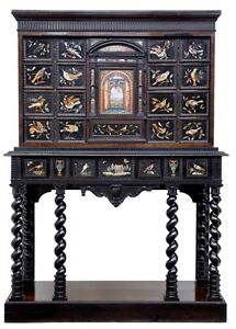 17TH-CENTURY-ANTIQUE-PIETRA-DURA-CABINET-ON-STAND
