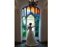 Pronovias Wedding Dress, Satin + amazing Lace, Ivory, Size 8-10