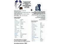 7 LED Garden Lights + power supply adapter transformer - for sale