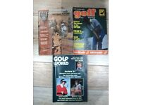 Old Golf Monthly, Golf World & Golf Digest magazines from 1960s-1990s