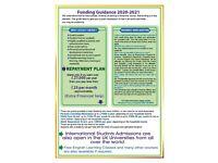 Student finance available for UK, EU, EEA, Refugee Status, ILR student (June & September-2021)