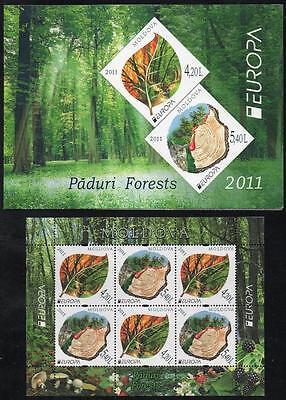 MOLDOVA 2011 EUROPA PADURI FORESTS MINISHEET