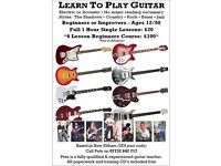 LEARN TO PLAY GUITAR. Beginners or Improvers - Ages 12/80. £20 per 1 hour lessons
