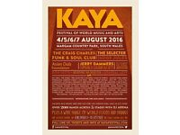 1 day ticket to Kaya Festival 6th August