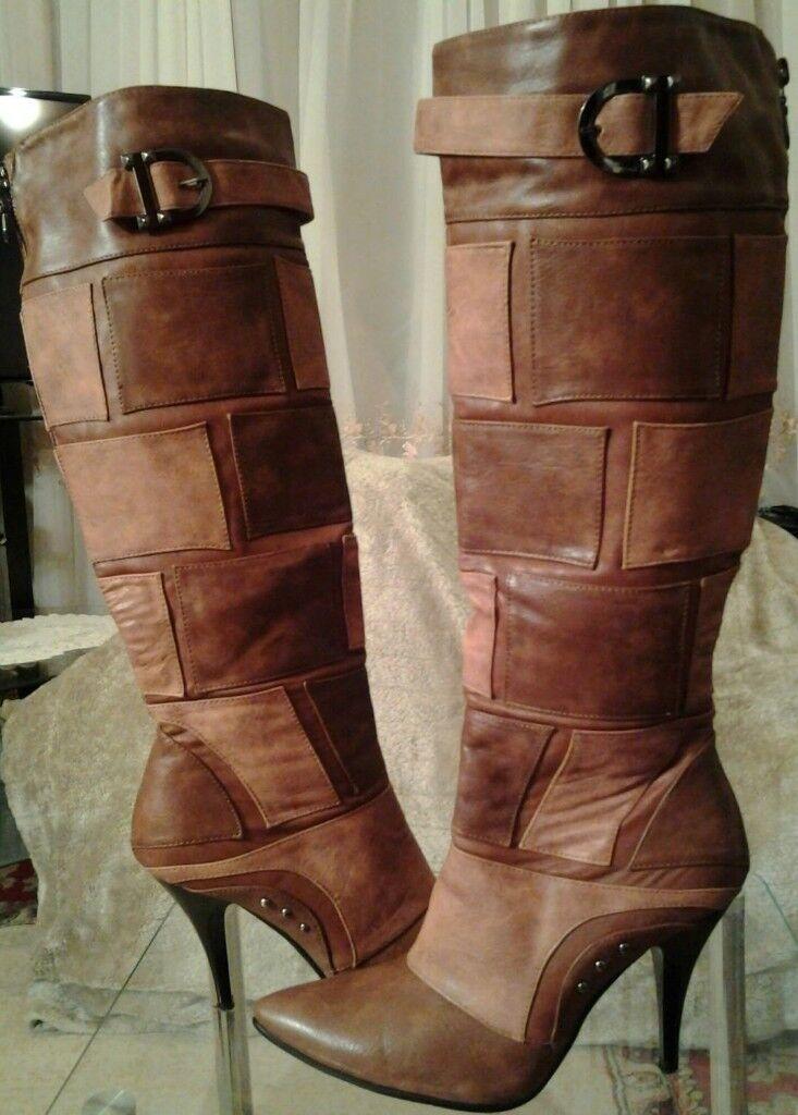 WOMAN TAN/BROWN WINTER BOOTS ((£30)