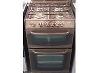 Cannon 55cm wide gas cooker in brown