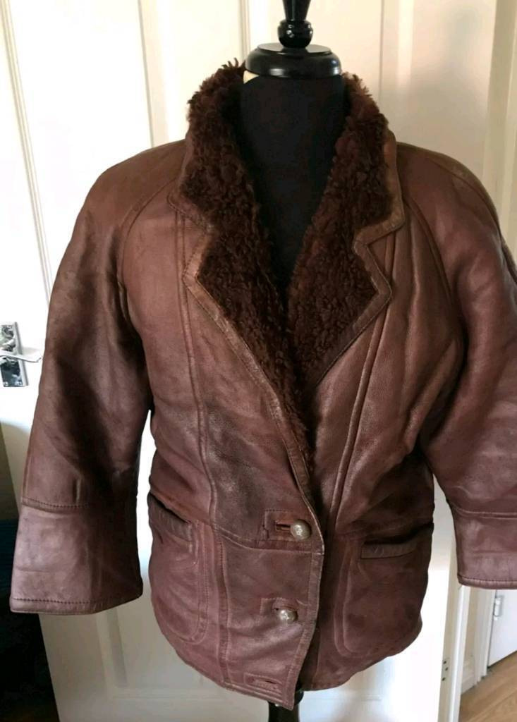 7de3d3bf733 Mens B3 shearling leather bomber jacket