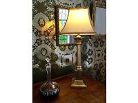 Laura Ashley Solid Brass Corinthian Column Lamp
