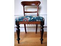 Upholstered Cedar Spade Back Colonial Chair