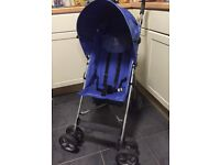 blue stroller / buggy , umbrella fold, all washed ready to go