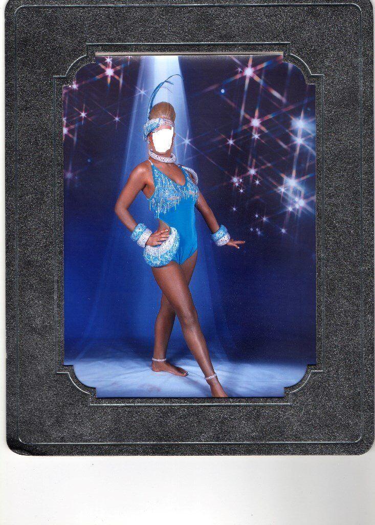 freestyle dance u14-16 inter champ turquoise blue janine slow costume £80