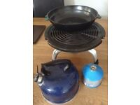 Camping Stove, kettle and Pan