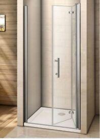 BRAND NEW BI-FOLD GLASS SHOWER DOOR - AICA RRP £139