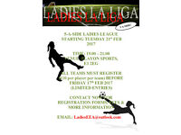 New Ladies 5 A-Side League Starting February. Limited Spaces. Join The Fun!!!