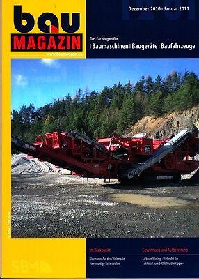 BauMagazin Dezember 2010/Januar 2011 (Gewinnung und Aufbereitung)