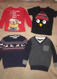 Age 3-4 Christmas tops/jumpers