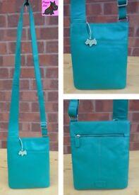 RADLEY Medium 'Pocket Bag' Bright Green Leather Messenger *Excellent*