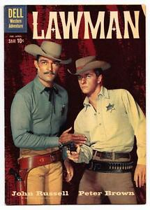 1960 DELL LAWMAN #3 WESTERN SILVER AGE COMIC BOOK 7.0
