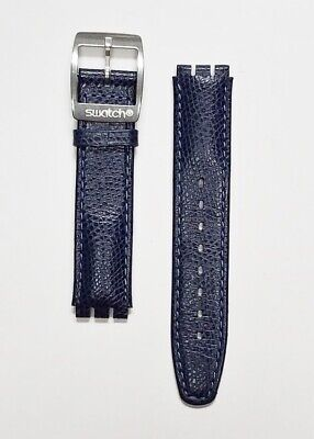 Swatch PROMENADE 17mm leather strap fits 37mm wide Swatch gent irony