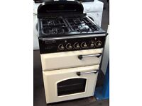 Leisure 60cm Dual Fuel Cream Cooker, Gas Hobs, Electric Ovens, 6 Month Cover