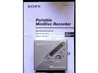 Sony Portable Mini Disc Player Recorder MZ-N710 NET MD Walkman minidisk MDLP