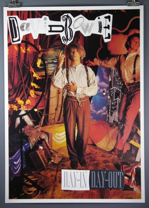 """David Bowie, """"Day-In Day-Out"""", Rare Vintage Poster"""