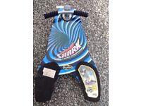 Two Fuzion Spinner Shark 4 wheel Knee Boards Kneeboard Scooter Knee Board