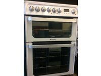 HOTPOINT ELECTRIC COOKER CERCAMIC TOP SEPERATE OVEN SEPARATE GRILL FREE DELIVERY AND WARRANTY