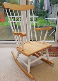 Beautiful shabby chic style rocking chair