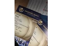 GOLD TICKETS India Pakistan champions trophy final ICC £900
