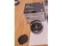 Panasonic 20mm f/1.7 micro four thirds (with box)
