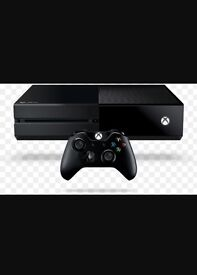 Xbox one console 500gb and 2 games with headphones