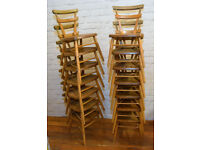 14 available Ercol yellow dot vintage stacking childs chairs mid century antique industrial retro